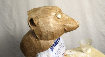 Add One Layer of Paper Mache to the Timon Mask