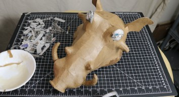 Making a Pumbaa Mask 3