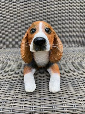 Beagle made with paper mache