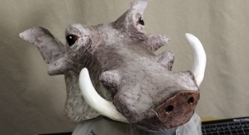 Making a Pumbaa Mask 4