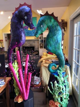 Giant Paper Mache Seahorse