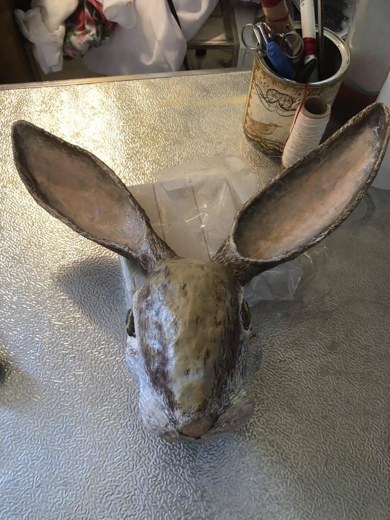 Painted Rabbit Sculpture3