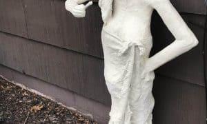 Figure Sculpture, paper mache and Flexbond