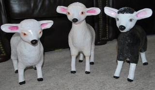 Lambs made with air dry clay