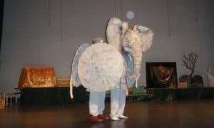 Elephant costume for the Lion King play