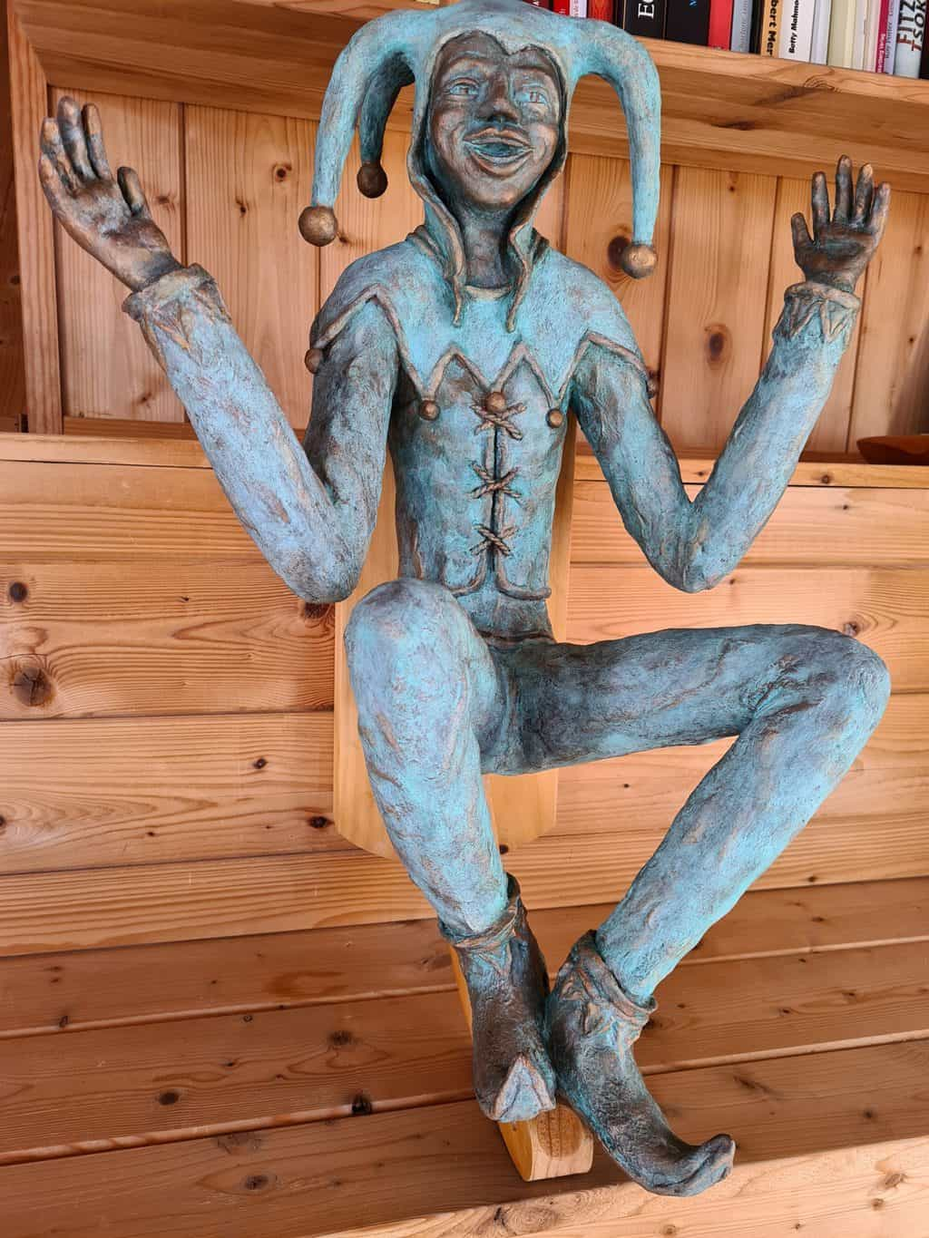Jerk Konrad, a figure sculpture made with paper mache clay