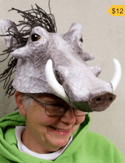 Pumbaa Headdress Pattern