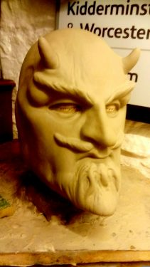 Model for paper mache devil mask