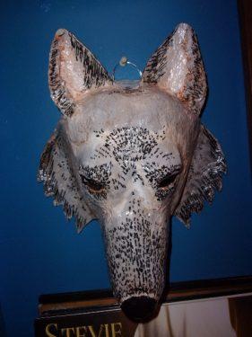 Paper Mache Wolf Head