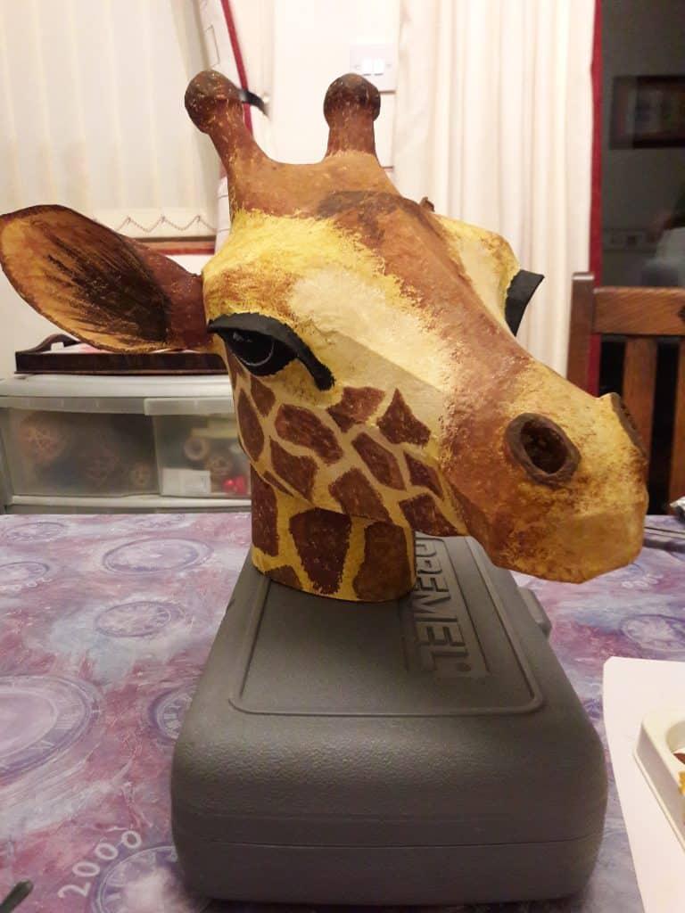 Giraffe heads for the Lion King.