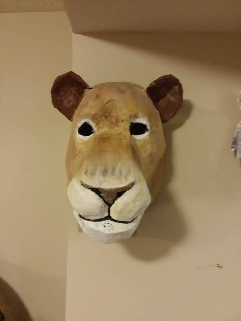 Lion Mask with Air-Brushed Face
