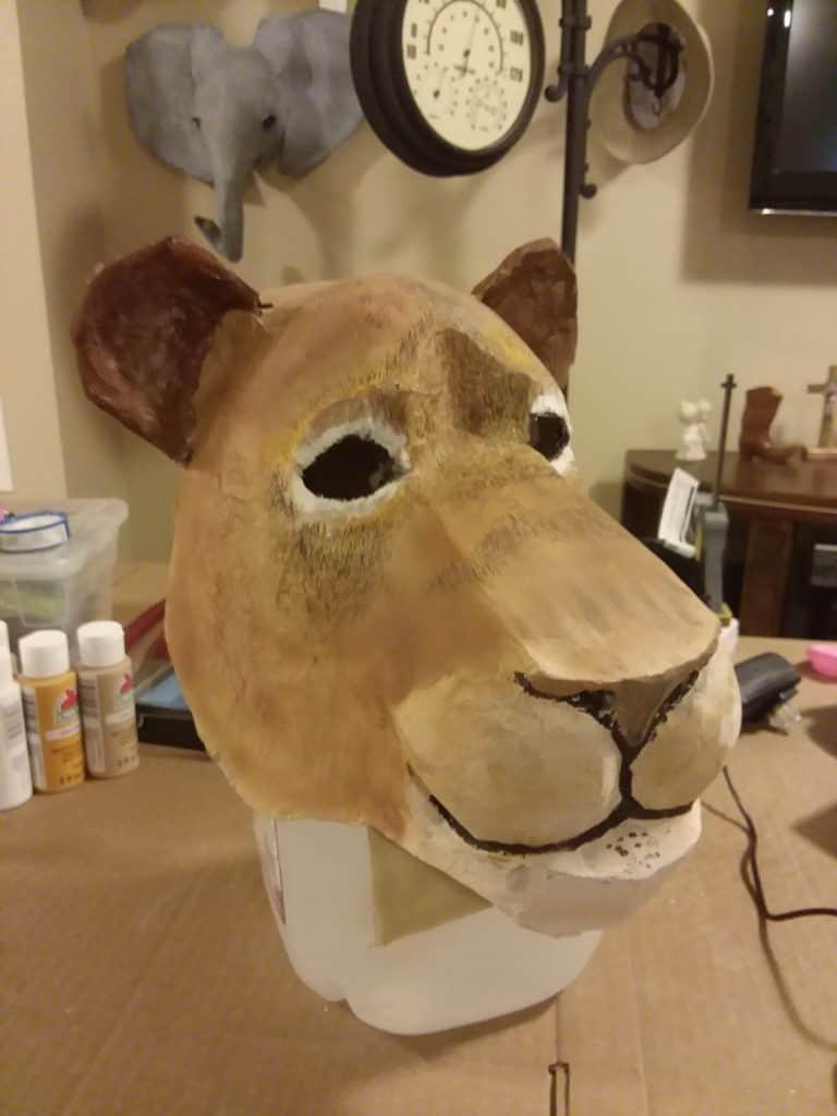 Lion Mask before Adding Mane