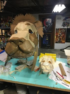 Giant Aslan Mask by Fort Wayne Youtheatre