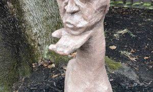 Blowing a kiss yard art