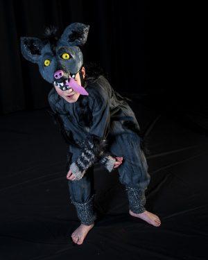 Hyena costume on stage