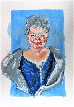 Portrait in historic costume