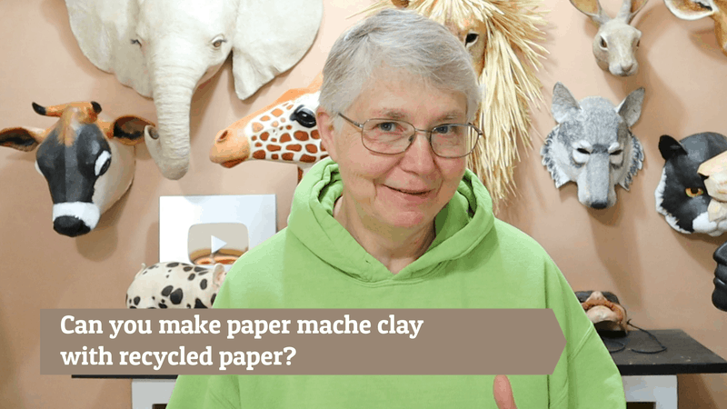 Make paper mache clay with newspaper