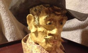 Gnarly Cowboy sculpted portrait
