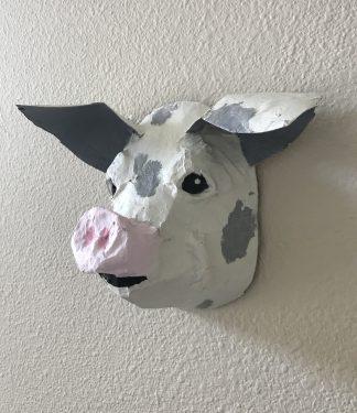 Gramps - a paper mache pig