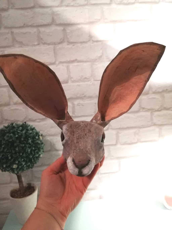 Jack Rabbit Sculpture by Ewelina Dewerenda