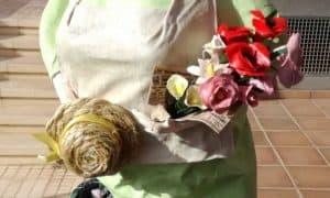 Paper Mache Mrs. Gardener Figurine