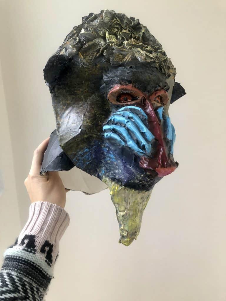 Mandrill mask Rafiki