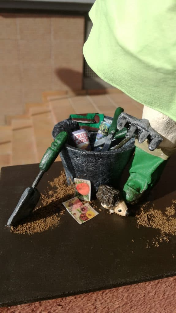 Tools for Mrs Gardener figurine