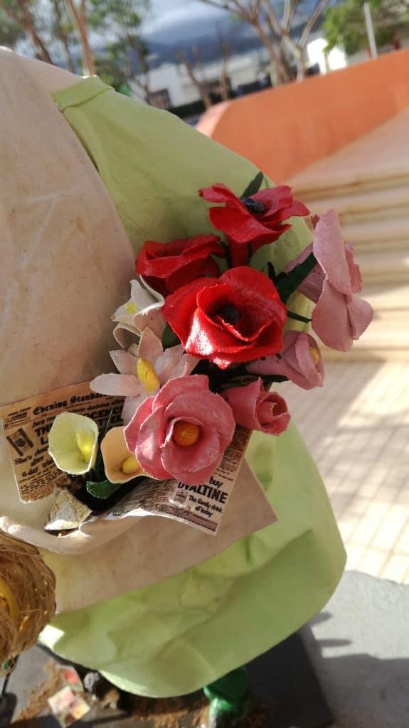 Paper mache roses