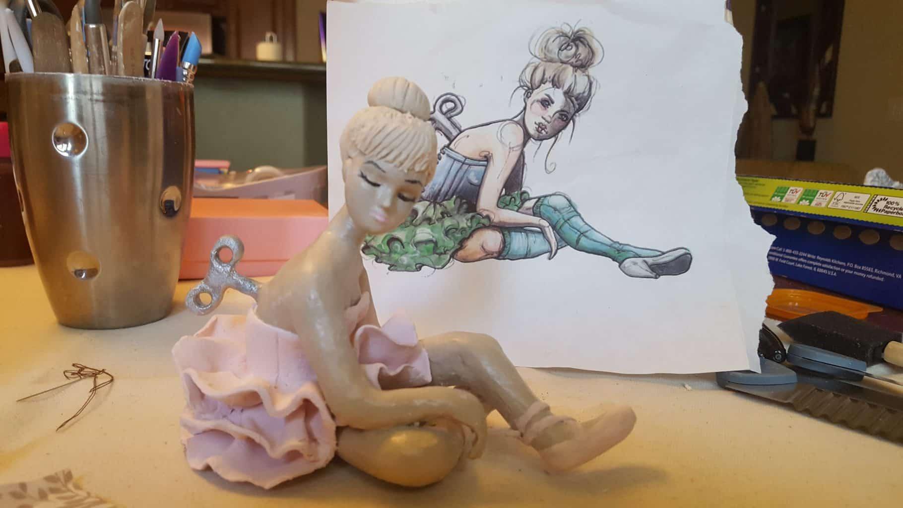 Tiny Dancer sculpture