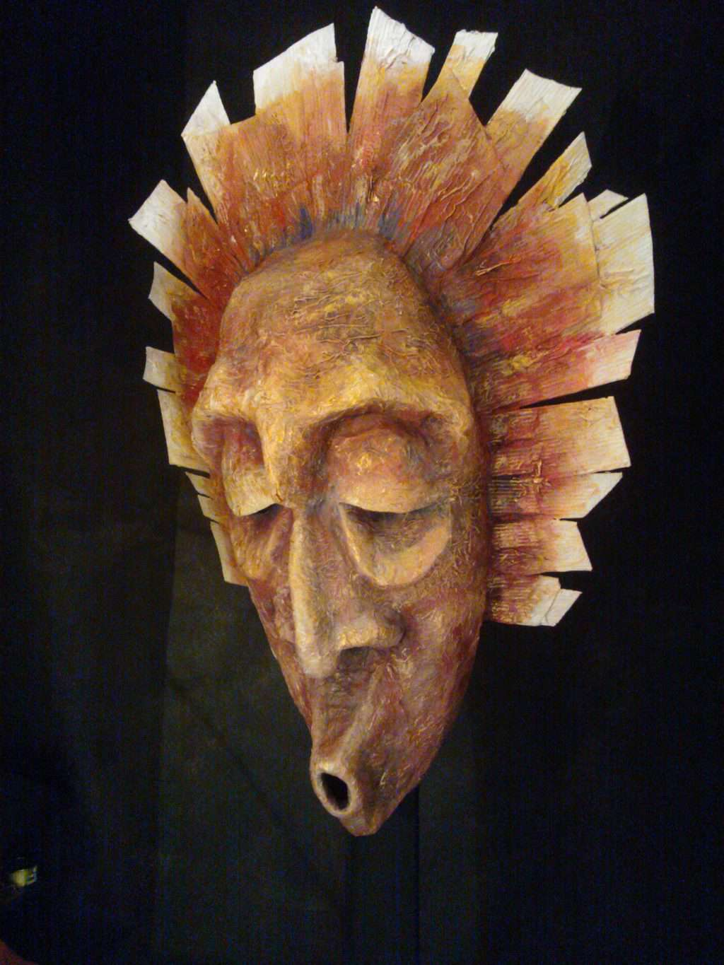 4-foot mask for Lachésis, Greek Goddess of Fate