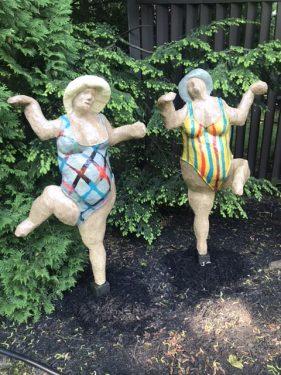Dancing grandmas sculpture