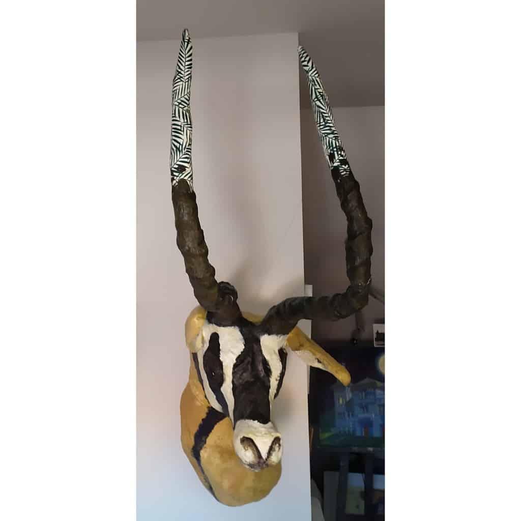 Paper mache antelope