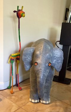 Harry Elephante paper mache elephant