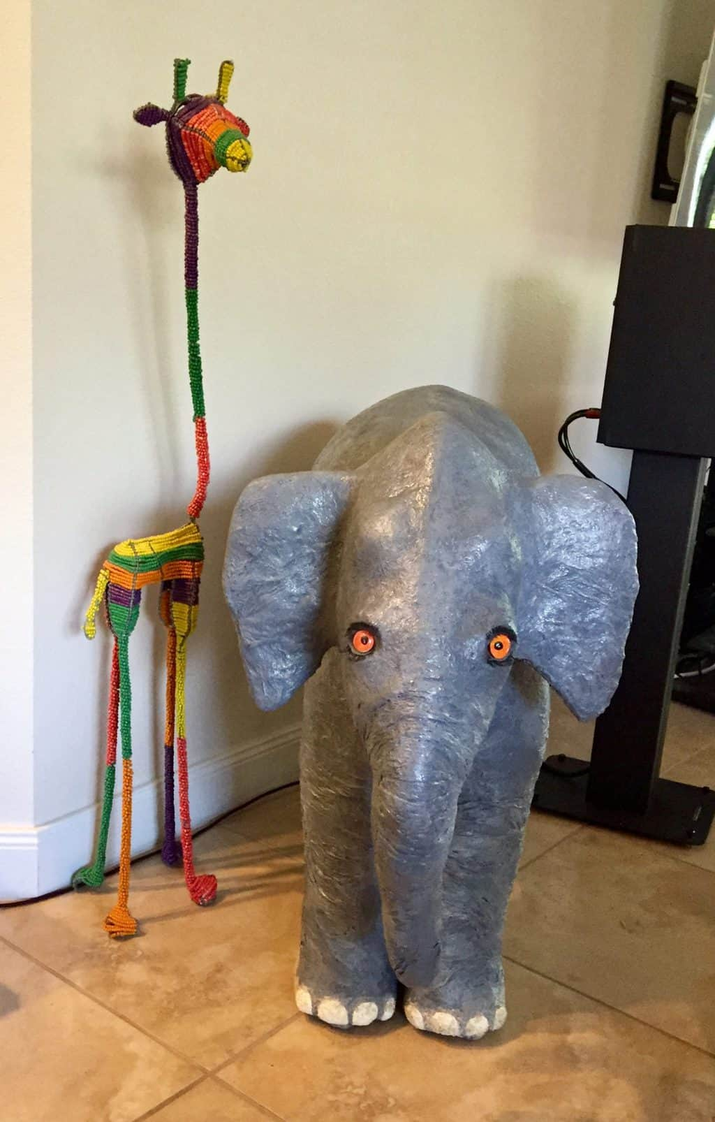 Harry Elephante paper mache elephant