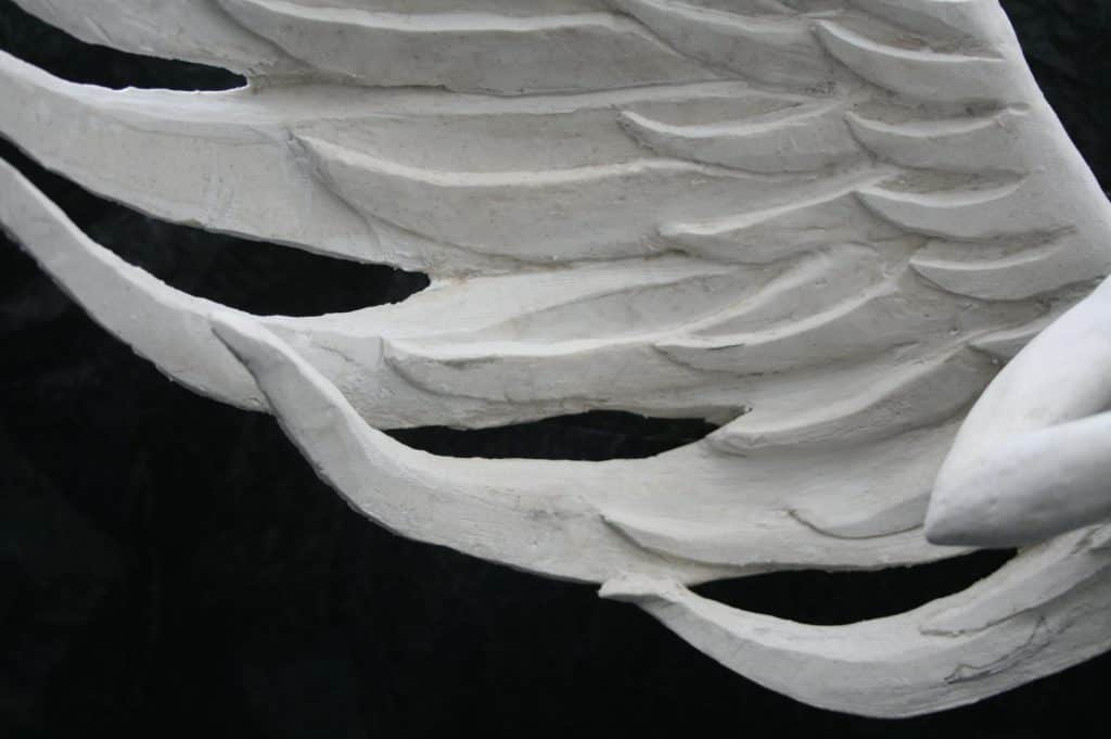 Angel wing detail