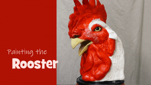 Painting a Rooster Sculpture