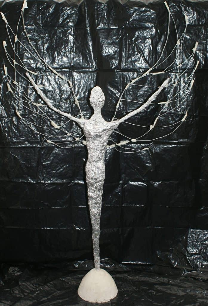 Armature for Archangel sculpture