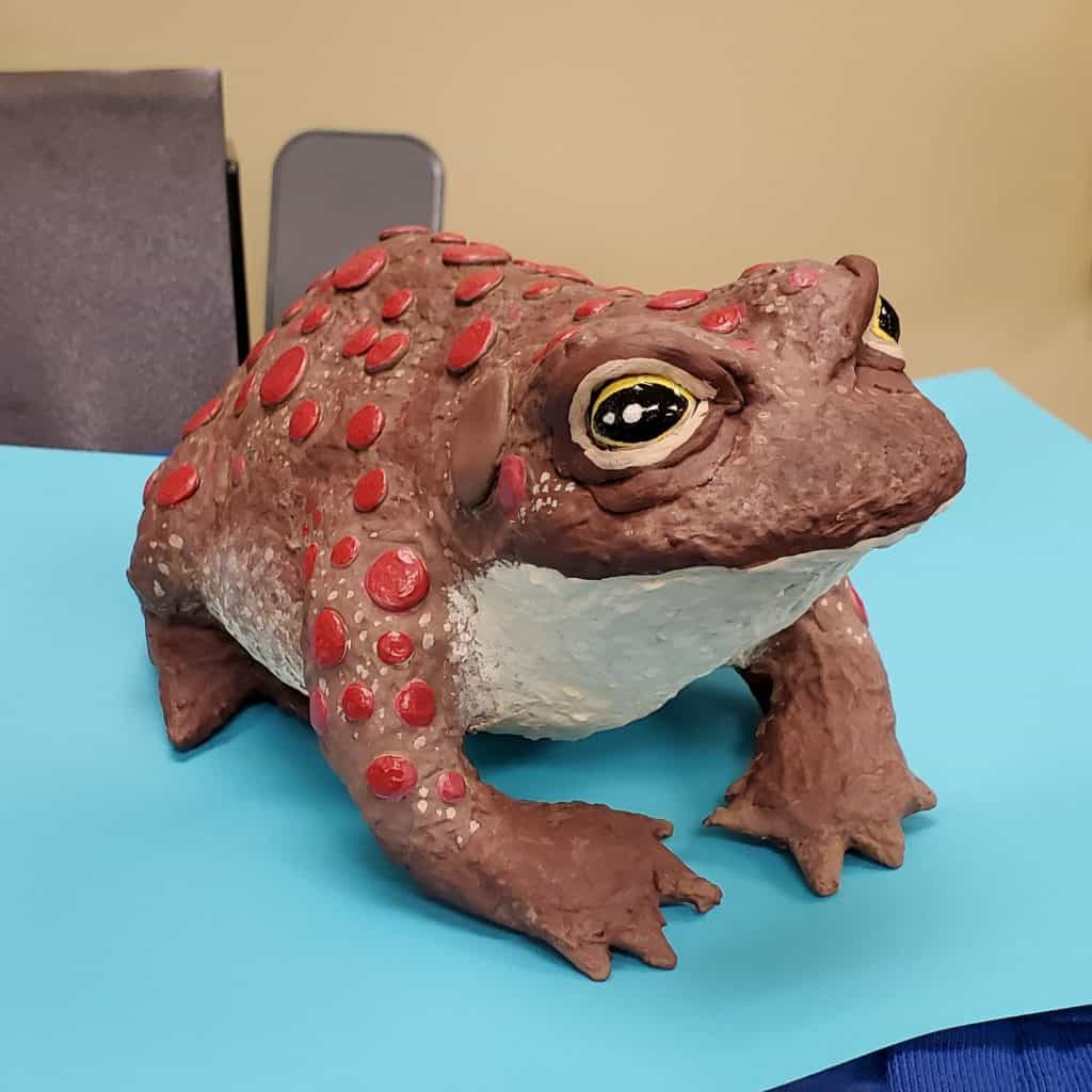 Paper Mache Clay Toad