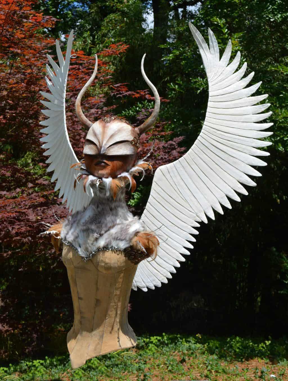Winged Warrior sculpture for nightclub