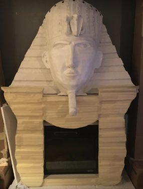 Large king tut fireplace