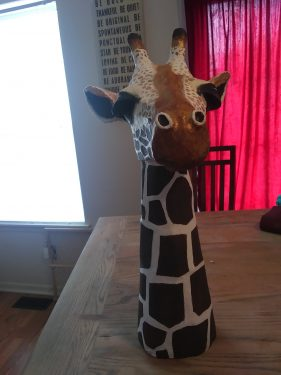Paper Mache Giraffe Head