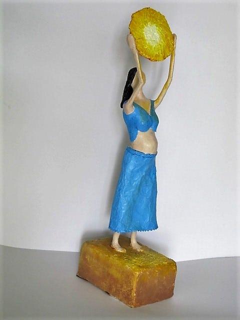 Light of the World paper mache sculpture