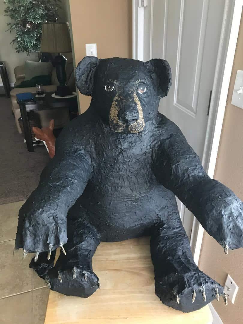Paper Mache Black Bear