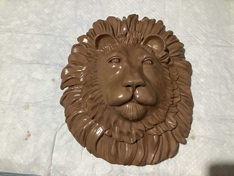 Clay Lion Sculpture