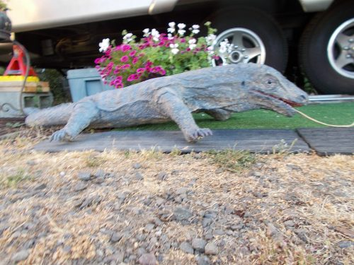 Komodo Dragon Sculpture