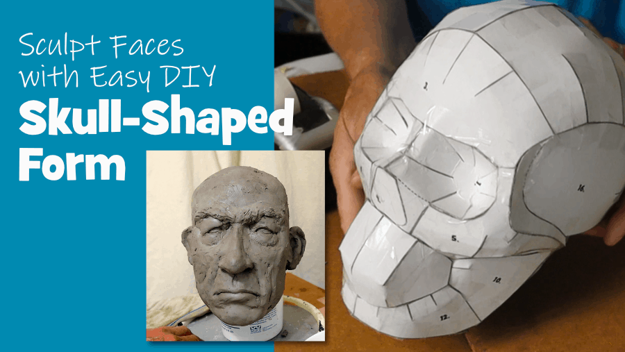 Skull shaped form for sculpting faces