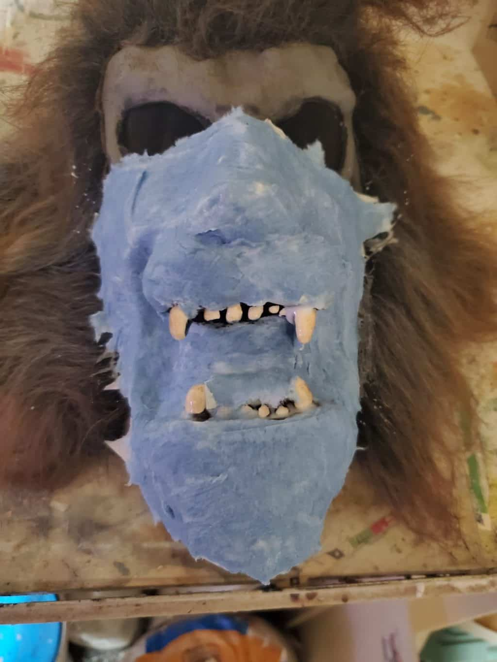 Mask in progress by David Harshman