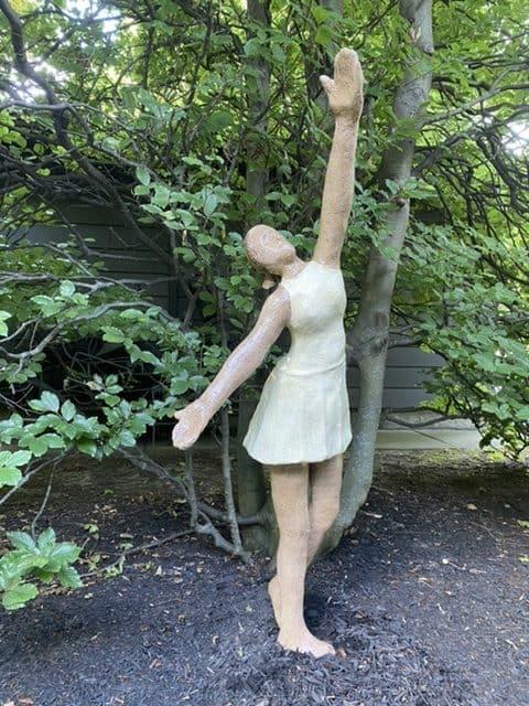 Outdoor sculpture of a dancer