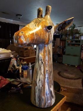 Giraffe Paint Pour