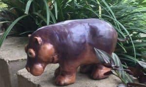 Barney the paper mache hippo